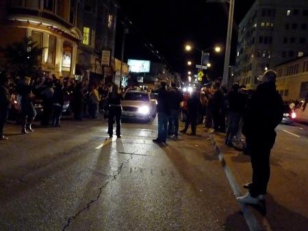 blocking traffic