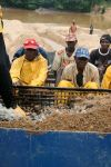 Workers at large-scale mine in Kono, Sierra Leone