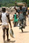 Large-scale diamond miners in Kono, Sierra Leone