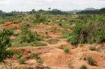 Abondoned mining land in Kono, Sierra Leone