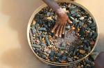 Artisanal diamond miner in Kono, Sierra Leone